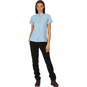 Regatta Mindano V Camiseta Mujer, blue aster print